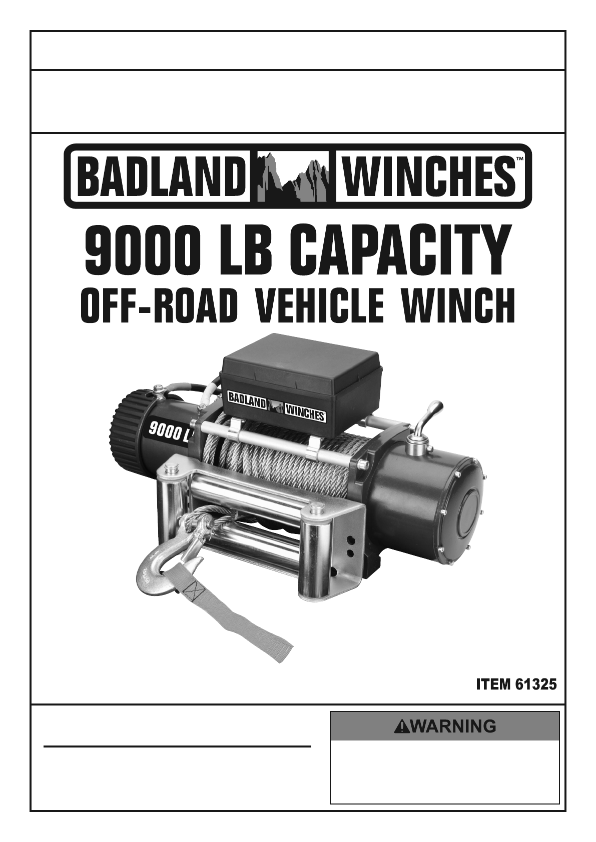 Harbor Freight 9000 Lb Off Road Vehicle Electric Winch With ... on