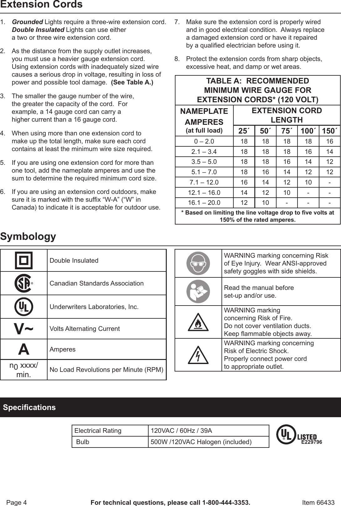 Page 4 Of 8   Harbor Freight Harbor Freight Portable Halogen