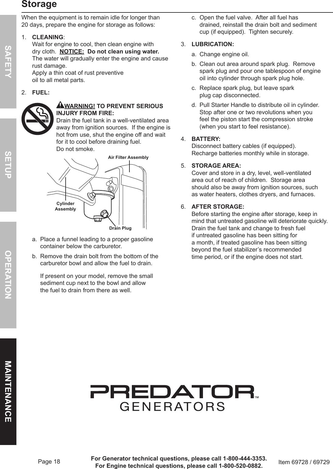Harbor Freight Predator Generators 4000 Watt Portable Owners