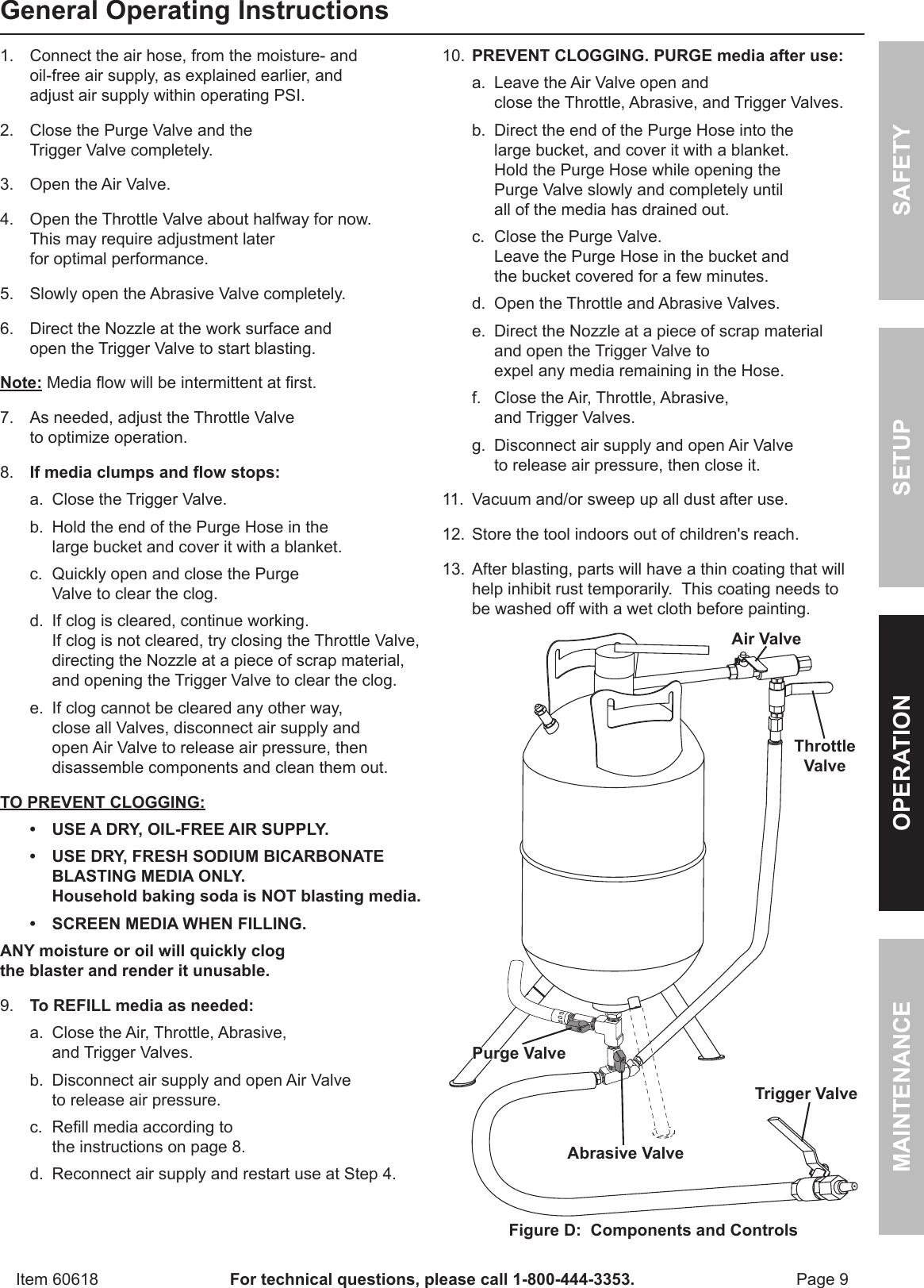 Harbor Freight Soda Blast Conversion Kit Product Manual
