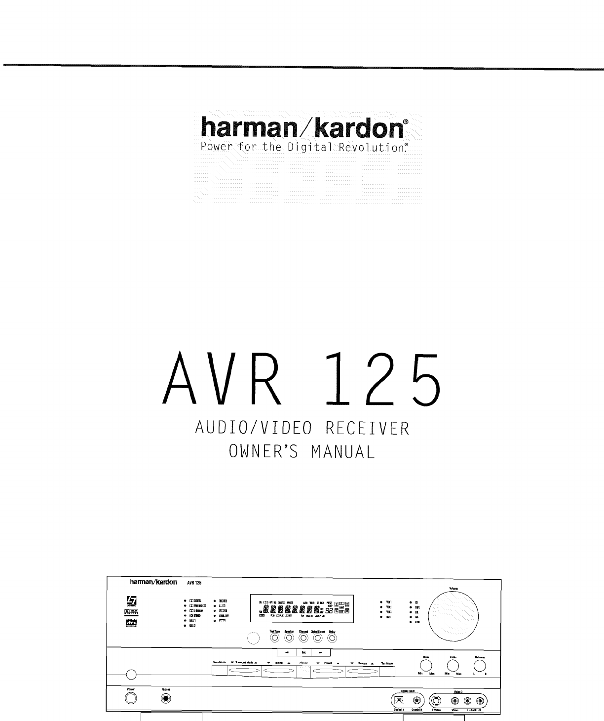 harman kardon avr125 user manual receiver manuals and guides l0208011 rh usermanual wiki