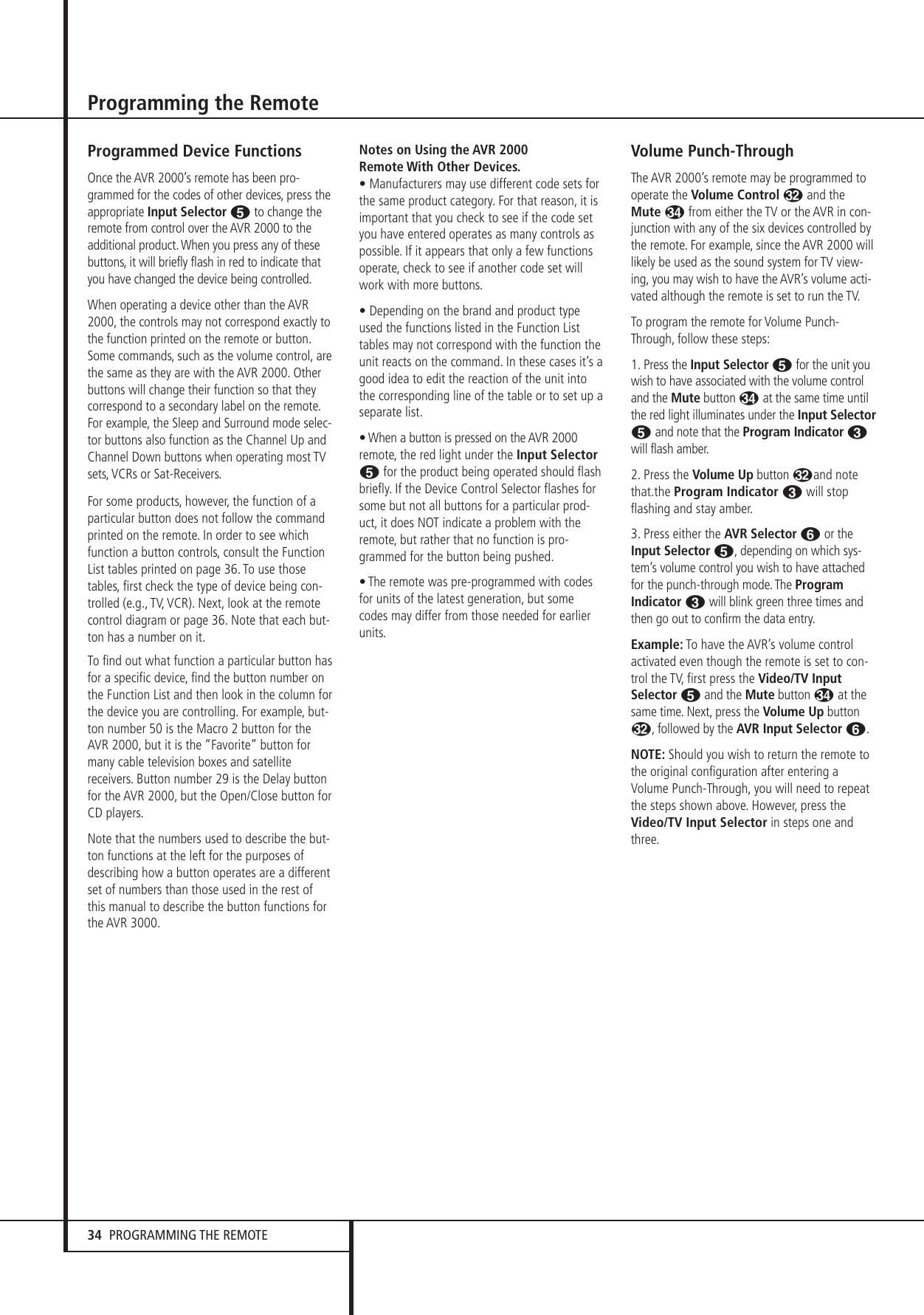Harman Kardon Avr 2000 Users Manual