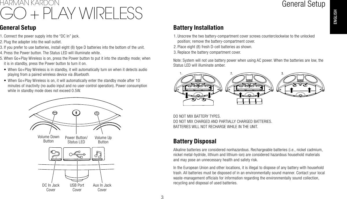 Harman Kardon Go Play Wireless Owners Manual