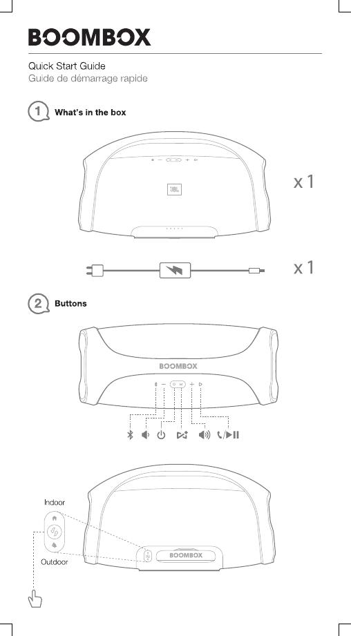 Harman JBLBOOMBOX Portable Bluetooth Speaker User Manual TR03821 JBL
