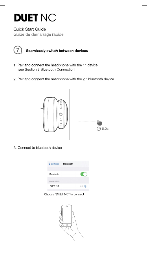 Harman JBLDUETNC Wireless NC Headphones User Manual TR03943 JBL DUET