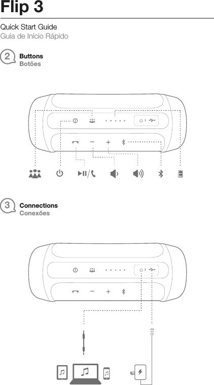 harman jblflip3 portable speaker with bluetooth user manual tr00154