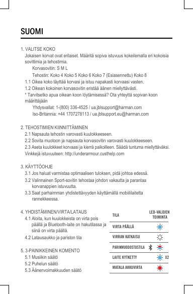 Harman JBLUATRAIN Bluetooth headset User Manual