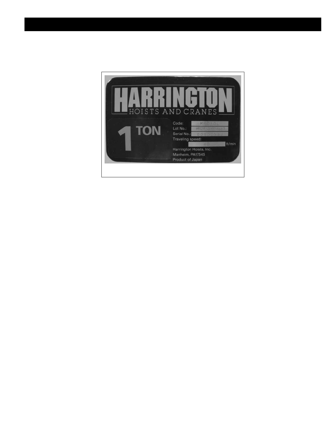 HARRINGTON Machine Screw J1AP24002608