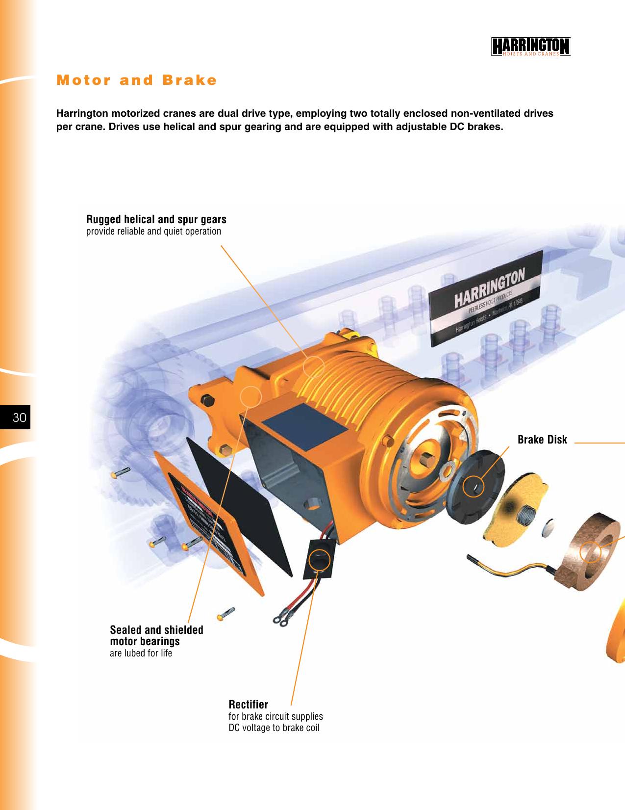 Harrington Hoists Saw Eac700 Users Manual Crane Catalog on