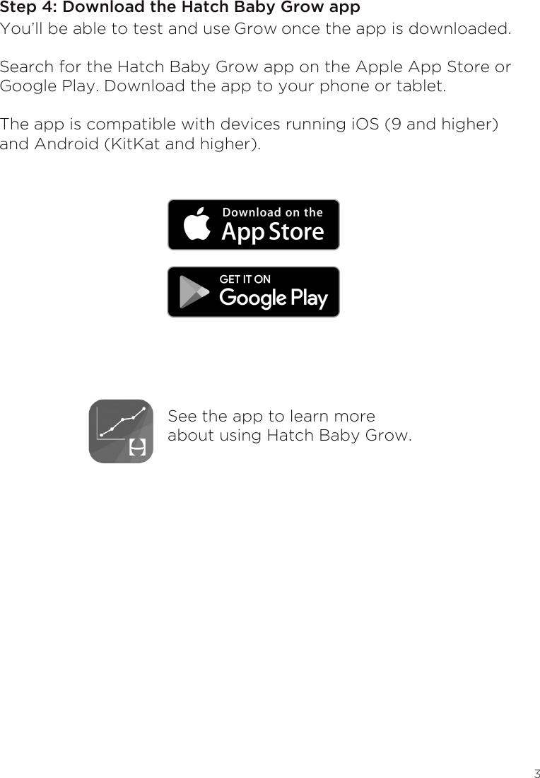 Hatch Baby HBG16001GRY Hatch Baby Grow User Manual