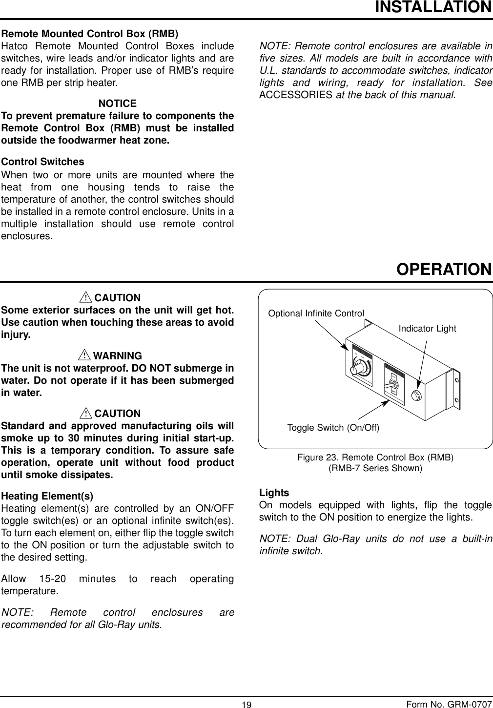 Hatco Glo Ray Gr Users Manual OM.qxp on