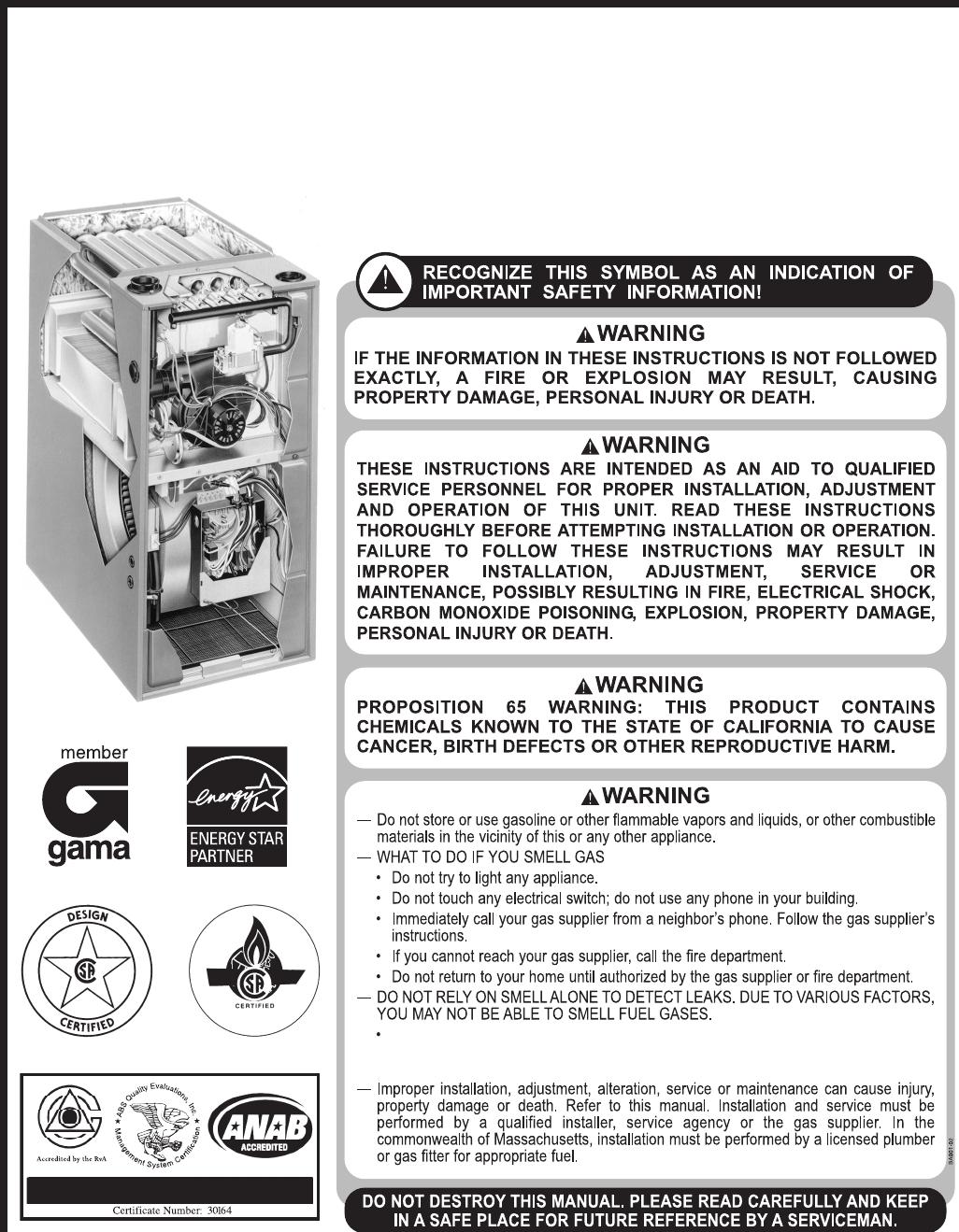 heat controller glub 95 series quick start guide 92 24161 37 11 fre