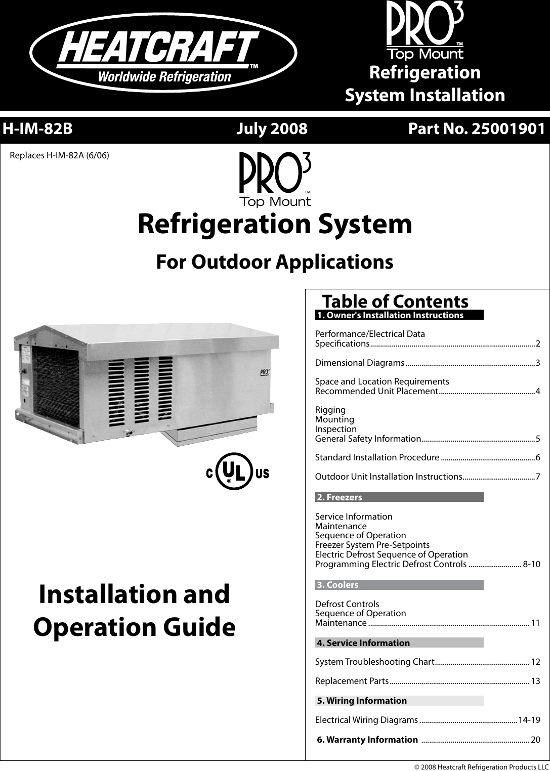 Heatcraft Refrigeration Products System H Im 82b Users Manual 3ph Condenser Wiring Diagram