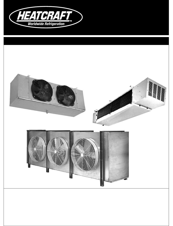 heatcraft evaporator coil wiring diagram heatcraft refrigeration products unit coolers h im uc users manual  heatcraft refrigeration products unit