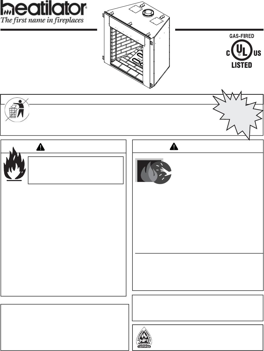 Heatiator Idv4833it User Manual To The F6b6ba9b D6dd 4045 90fe