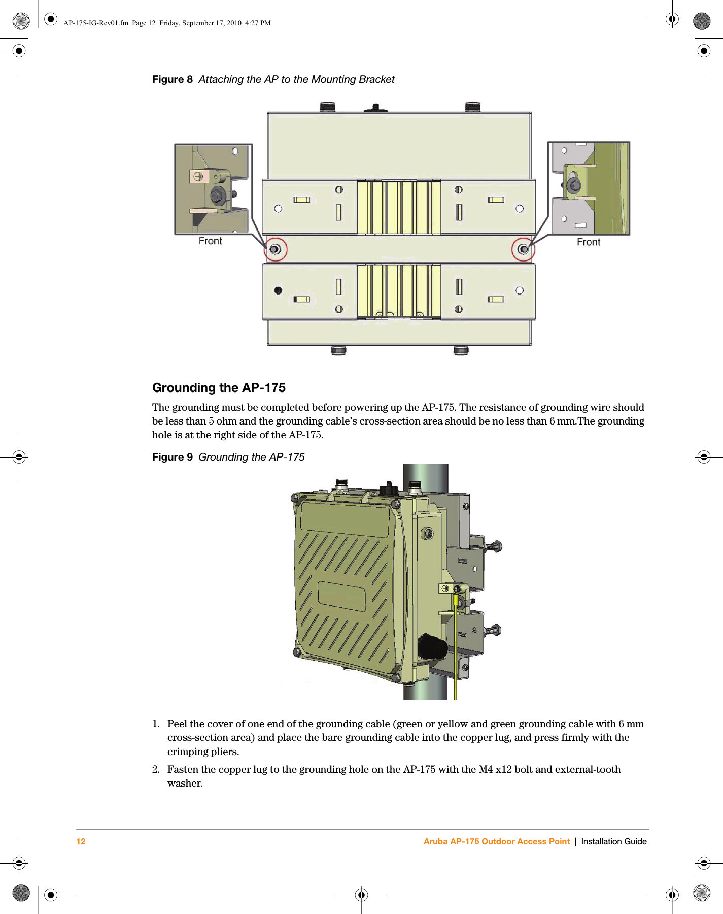 Hewlett Packard Enterprise Ap175 80211 A B G N Wireless Access Wiring Diagram 12 Aruba Ap 175 Outdoor Point Installation Guidefigure 8 Attaching The To