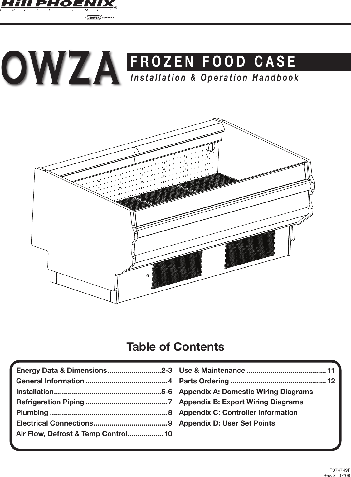 Hill Phoenix P074749f Users Manual Owza V1 Wiring Diagram