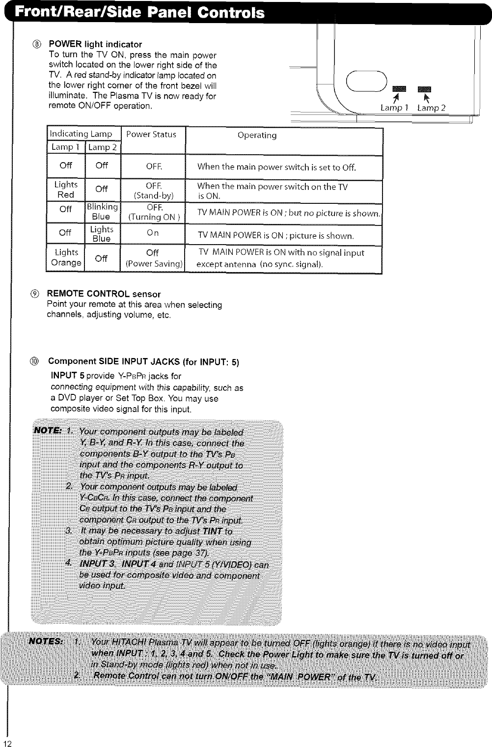 Hitachi 42HDS69 User Manual PLASMA TELEVISION Manuals And