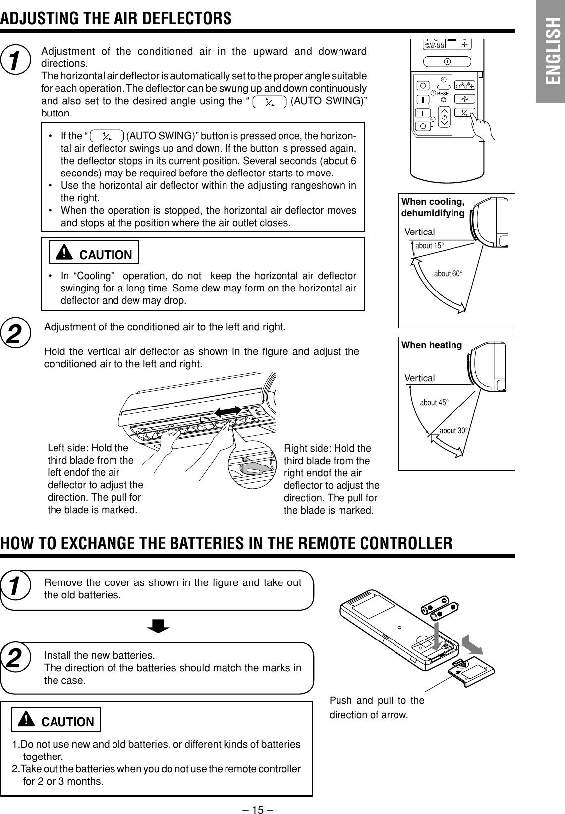 Hitachi Air Conditioner Ras 25Yha Rac 35Yha Indoor Unit Users Manual