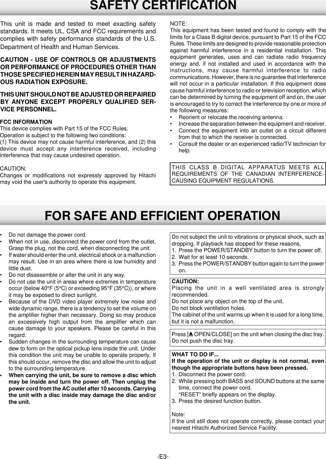 Hitachi Dv S522U Users Manual 5201/US Cover (Eng)