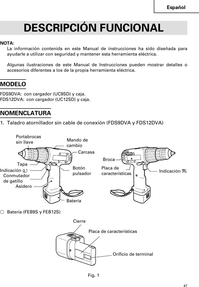 Hitachi Fds 9Dva Users Manual