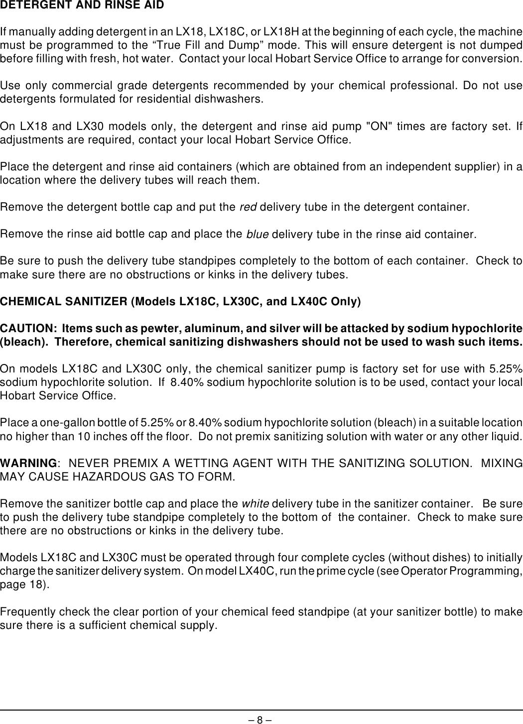 Hobart Lx18 Instruction Manual ManualsLib Makes It Easy To