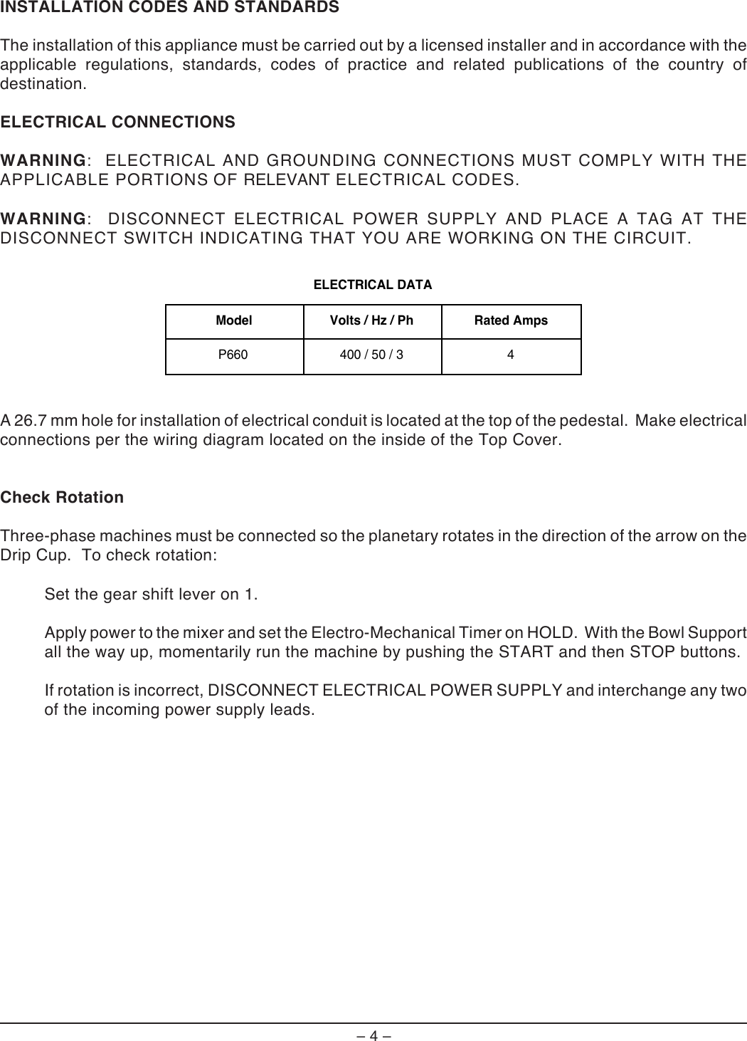 Hobart P660 Users Manual Wiring Diagram Page 4 Of 12