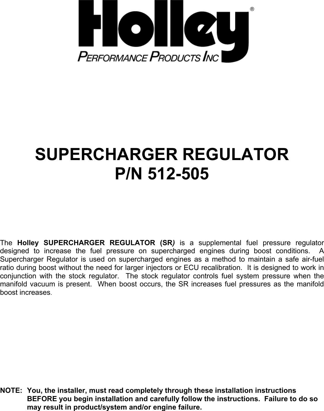 holley p n 512 505 users manual fuel pressure regulator installation rh usermanual wiki holley ddsd 285 user manual holley hp efi user manual