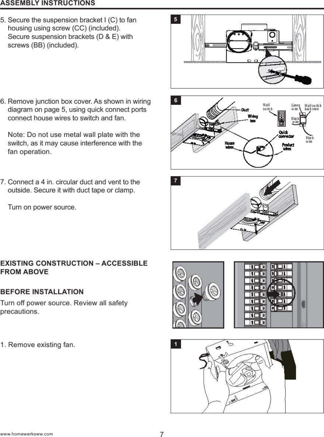 Homewerks Worldwide 7130 06 Bt Bluetooth Bath Fan User Manual Pdf Shower Speaker Wiring Diagram Users