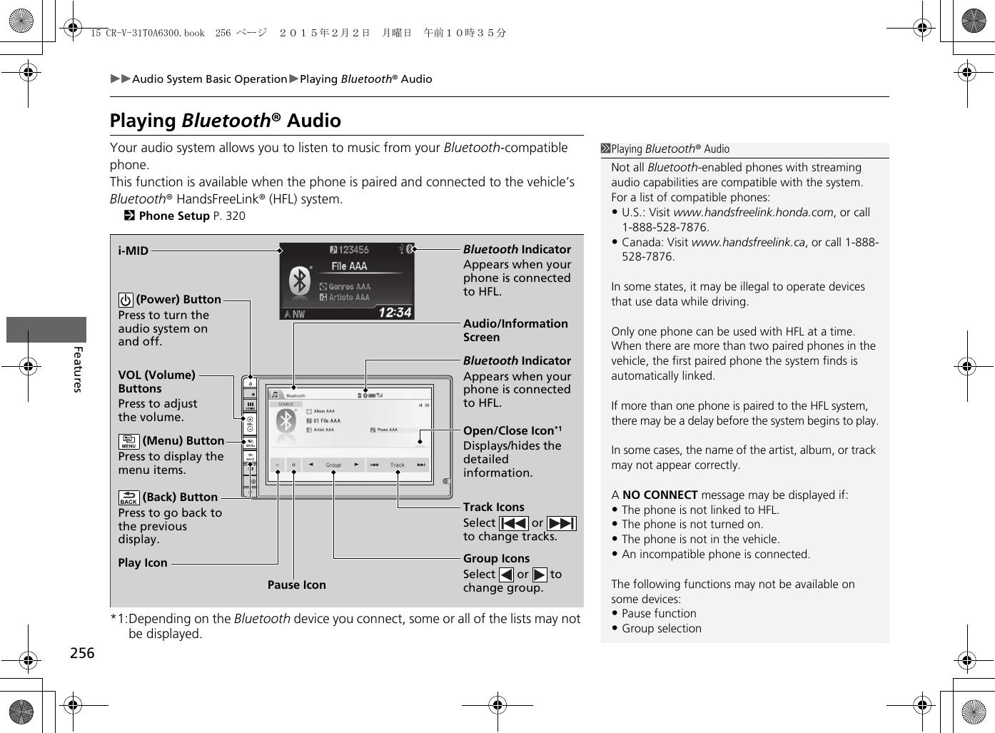 Honda 2015 Cr V Owners Manual