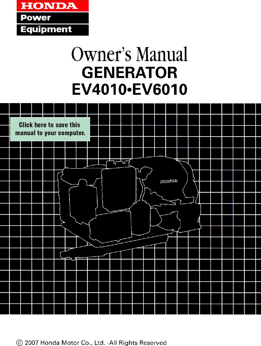 Honda Ev6010 Wiring Diagram Schematic Diagrams Titan Motorcycle Ev4010 Owners Manual