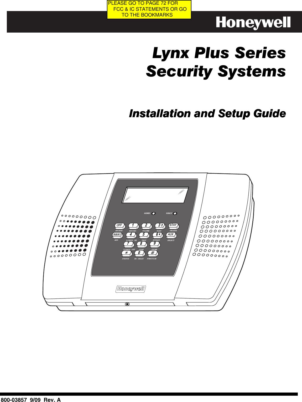 honeywell 8dllynxplus2 wireless control communicator user manual rh usermanual wiki lynx plus l'3000 programming guide lynx plus l'3000 installation manual