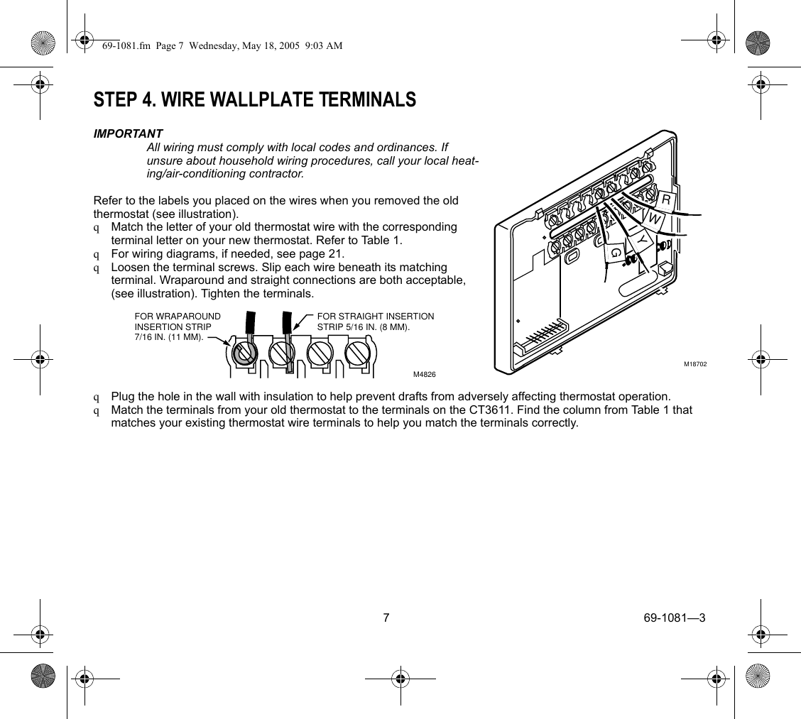 Honeywell Ac Thermostat Wiring Diagram For Wires