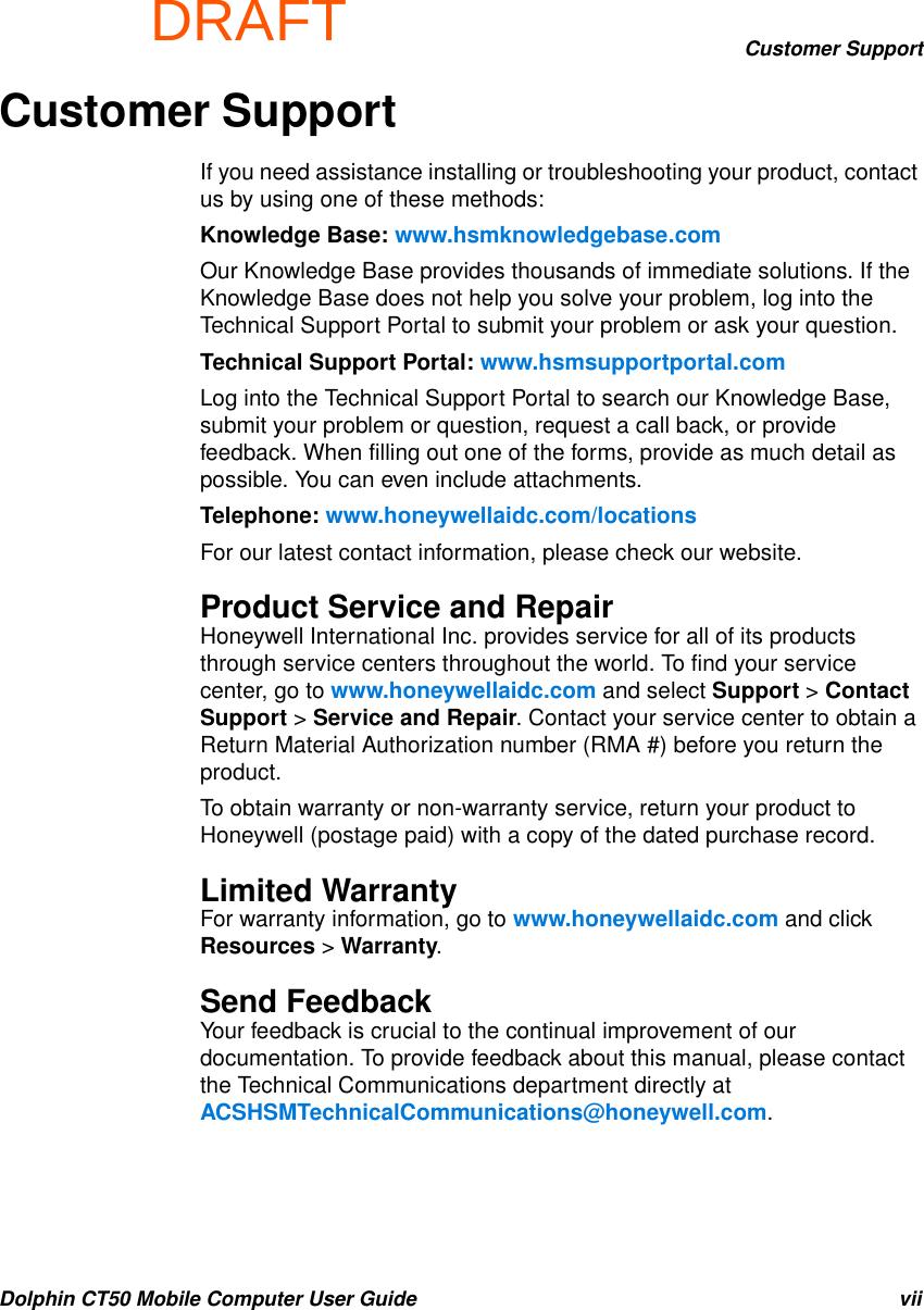honeywell dolphin 6100 user manual