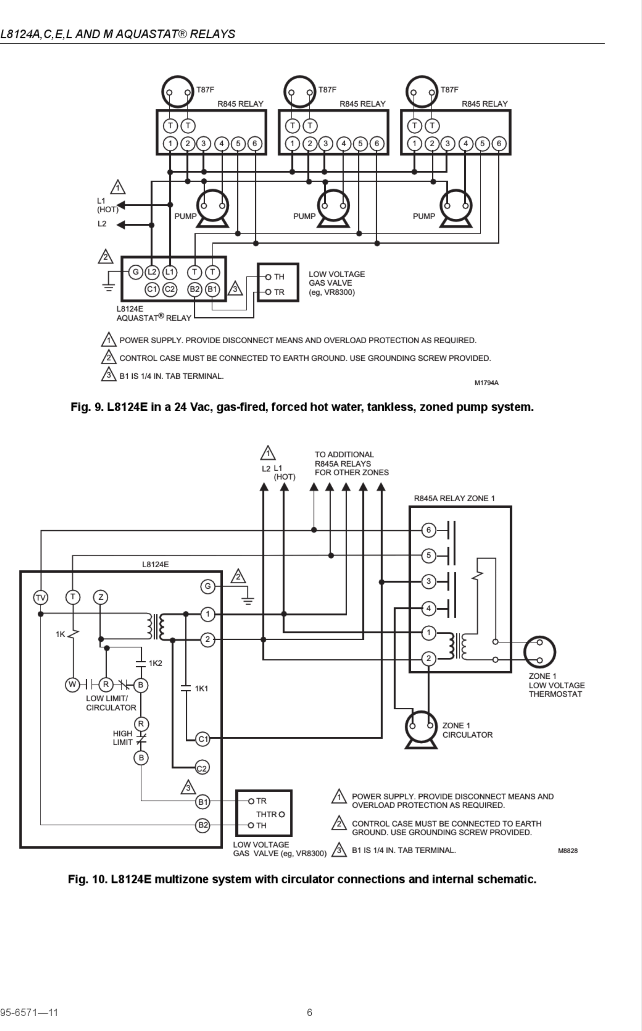 Page 6 of 8 - Honeywell Honeywell-Aquastat-L8124A-Installation-Instructions-Manual-1003208 User Manual