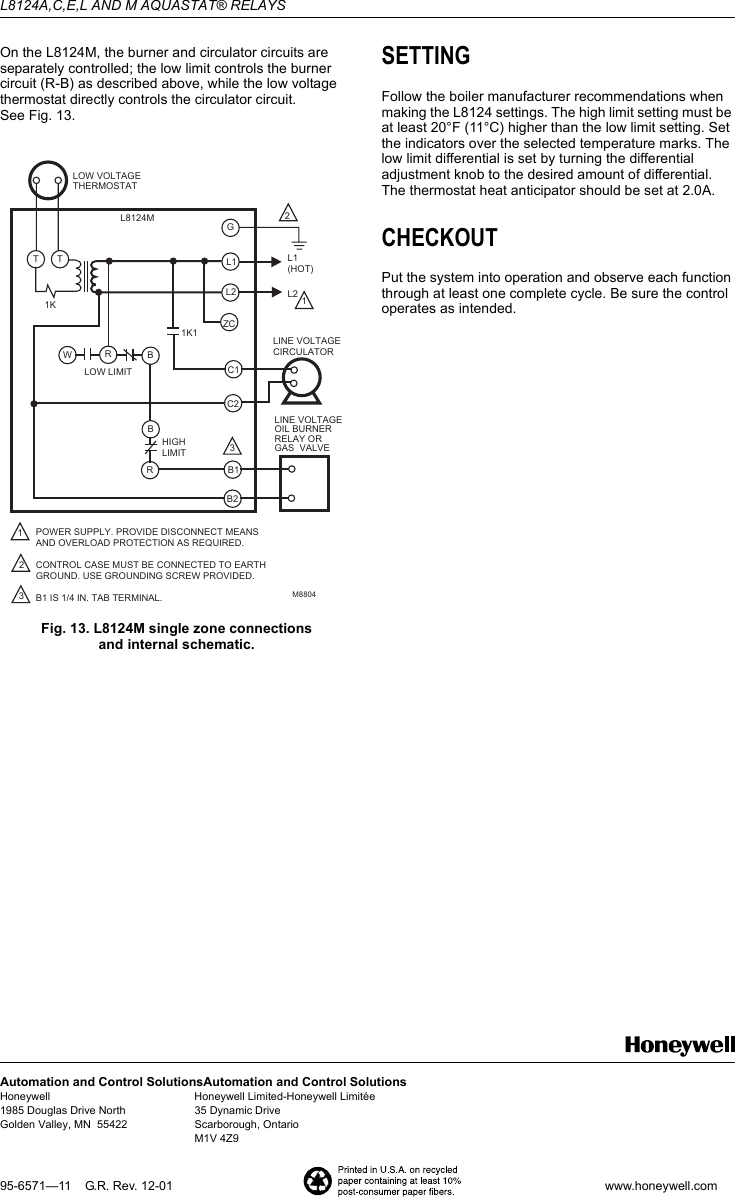 honeywell l8124a wiring diagram gallery diagram writing sample honeywell l8124a wiring diagram  Outside and Wood Stove for Heat Pump Thermostat Wiring Diagram Wiring for Boiler Aquastat Honeywell Boiler Aquastat Wiring-Diagram