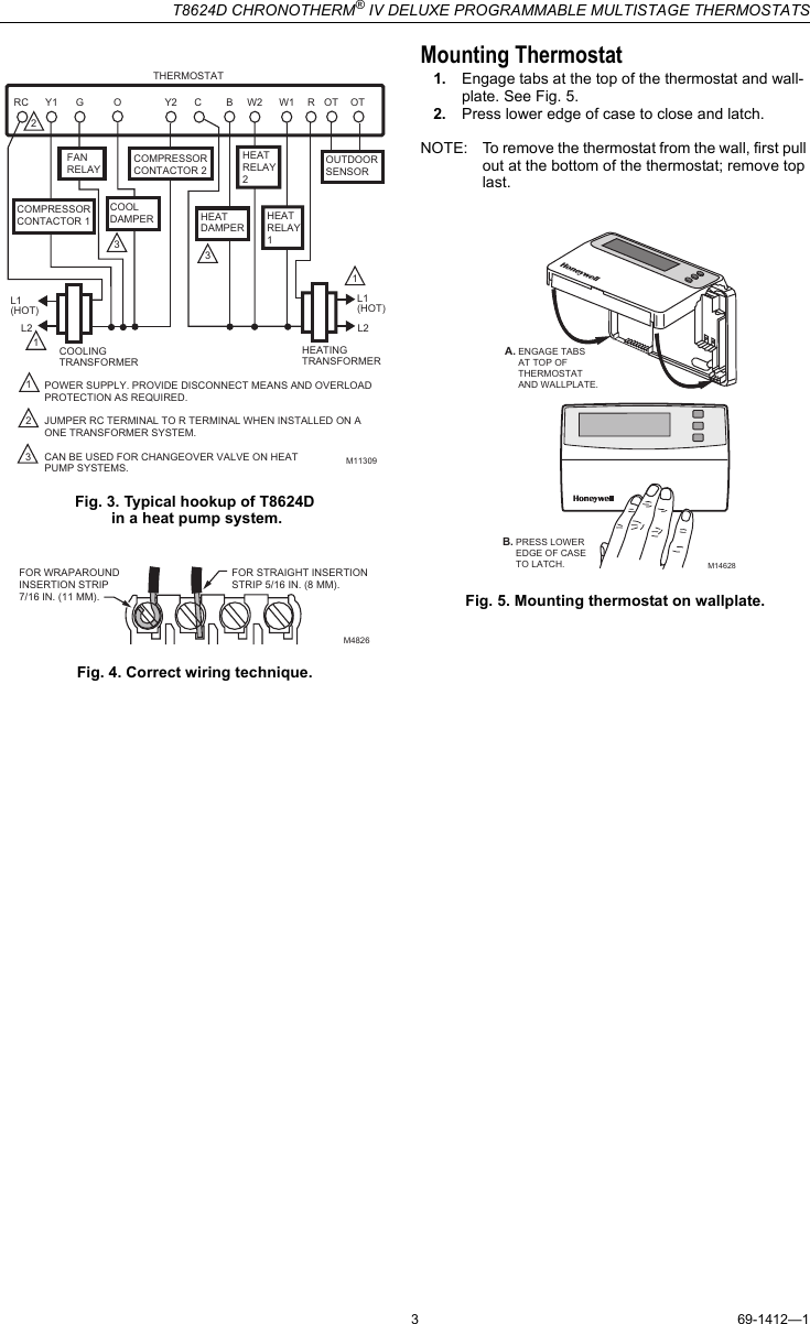 honeywell t8624d manual free owners manual u2022 rh wordworksbysea com Honeywell Thermostat Operating Manual Honeywell Thermostat Operating Manual