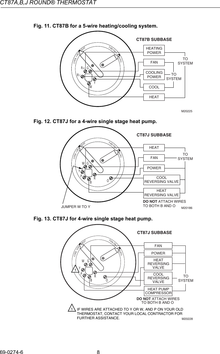 Page 8 of Honeywell Honeywell-Ct87A-Owners-Manual- 69-0274 -