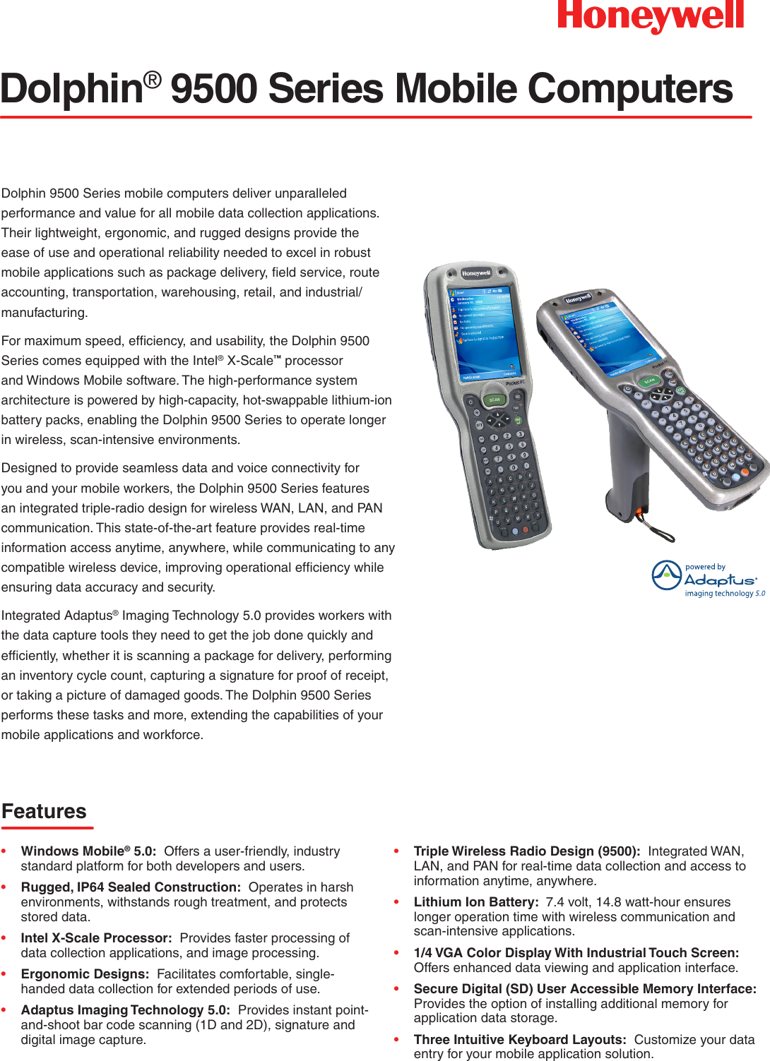 Dolphin 9500 Series Mobile Computer