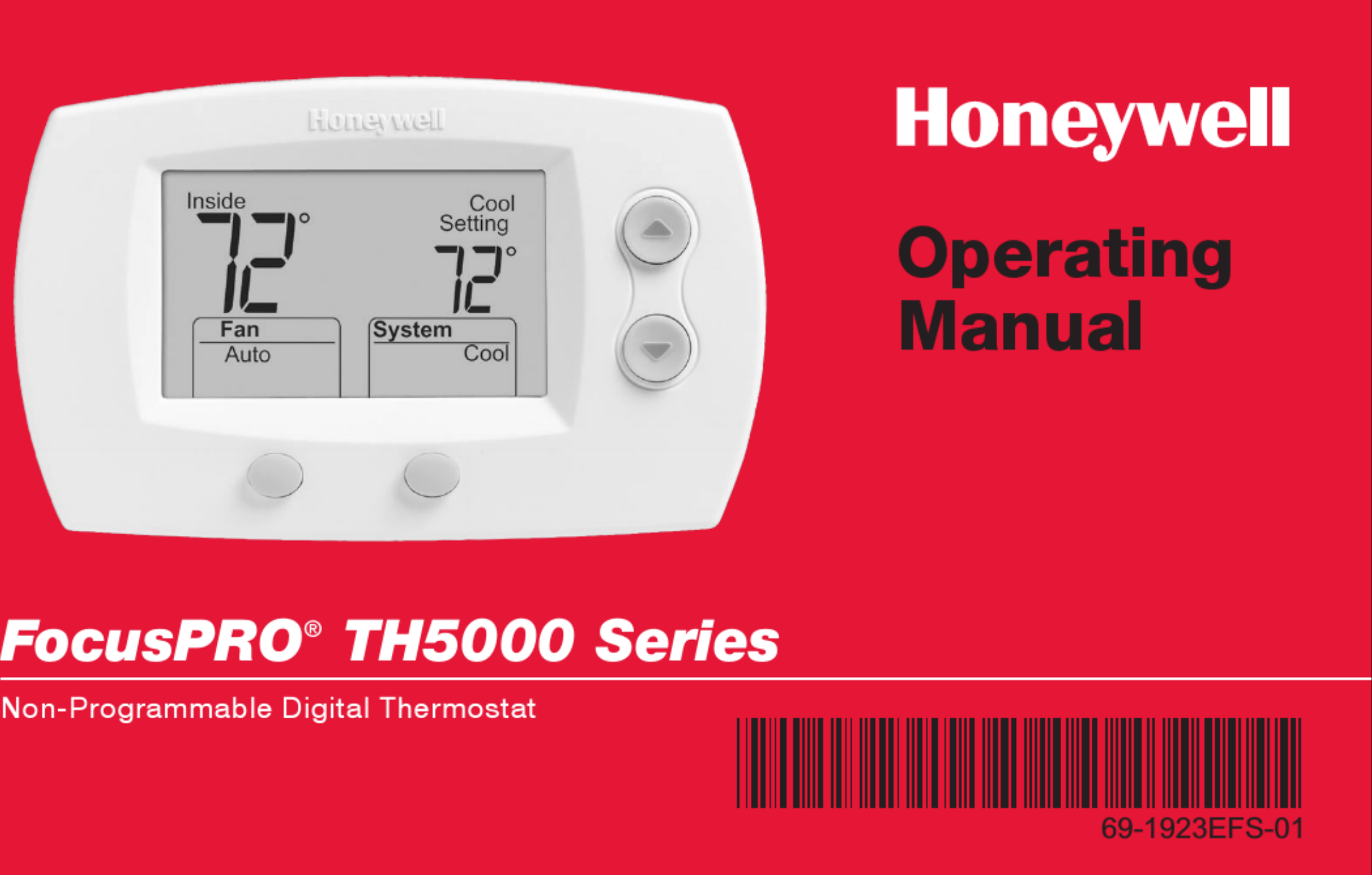 Honeywell Focuspro Th5000 Series Operating Manual 1002805 User | Th5000 Honeywell T Stat Wiring Diagram |  | UserManual.wiki