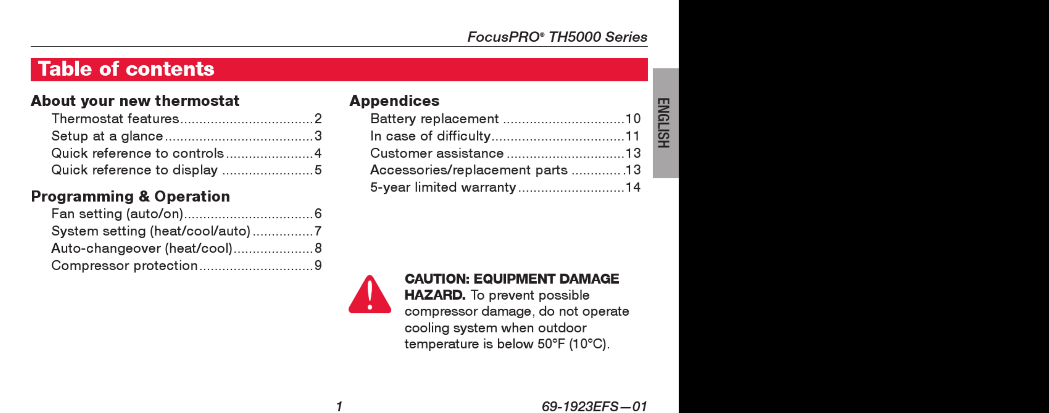 Honeywell Th5000 Wiring Diagram Th8000 Focuspro Series Operating Manual 1002805 User On Th5220d