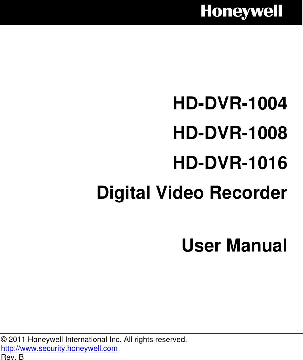 honeywell hd dvr 1004 users manual lb user u0026 39 s