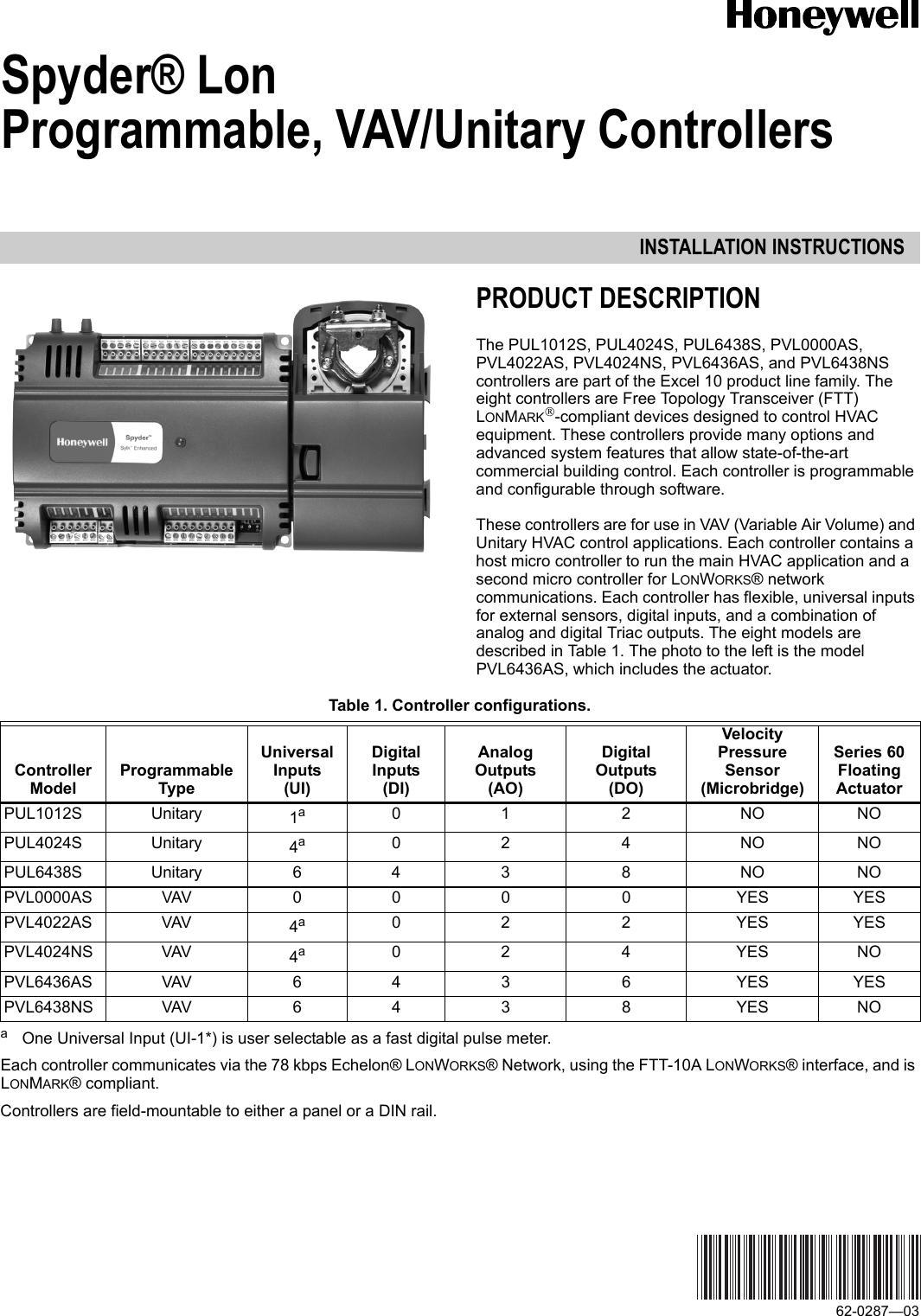 *NEW* Honeywell PUL6438S Controller 20-30 VAC