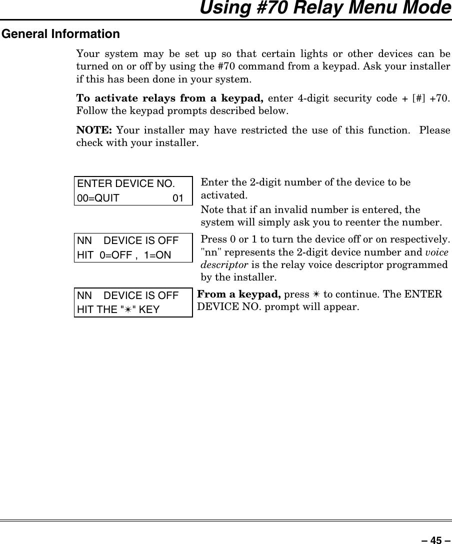 Honeywell Home Security System Vista 128Fbp Users Manual