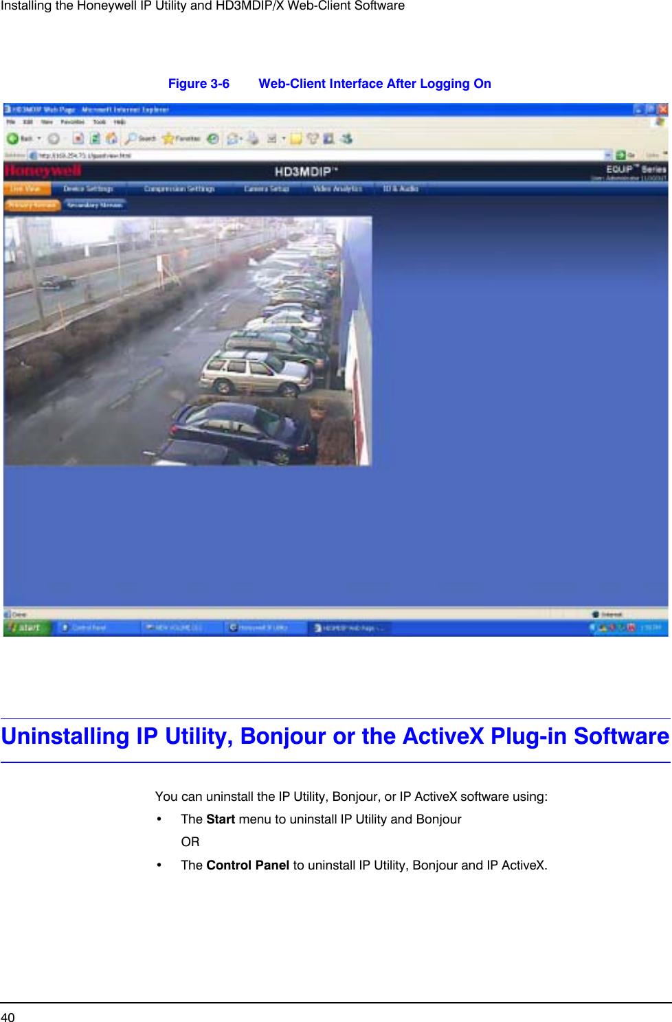 Honeywell Security Camera Hd3Mdip Users Manual EQUIP Series