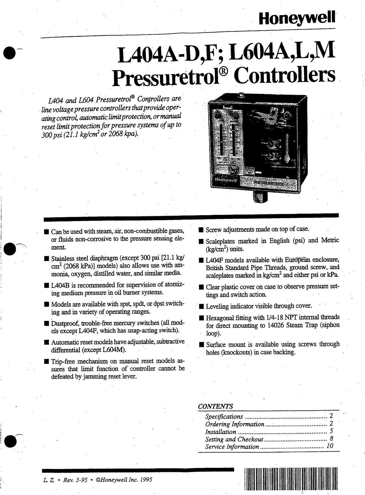Honeywell Sleep Apnea Machine L404A D Users Manual 4b