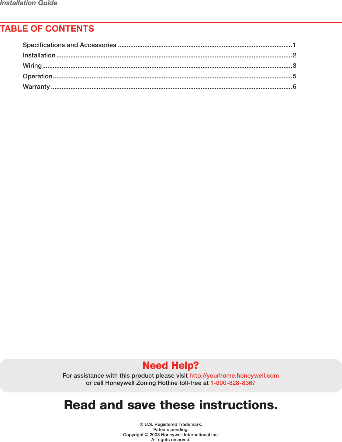 Honeywell Thermostat Hz221 Users Manual 69 2200 01 Truezone Wiring Guide Page 2 Of 8