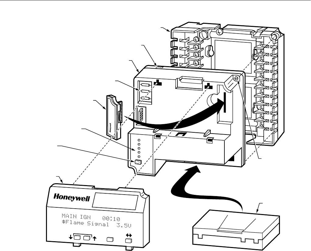 Honeywell Thermostat Rm7800eglm Rm7840eglm Users Manual 66 1085 7800 Burner Control Wiring Diagram Series Relay Modules