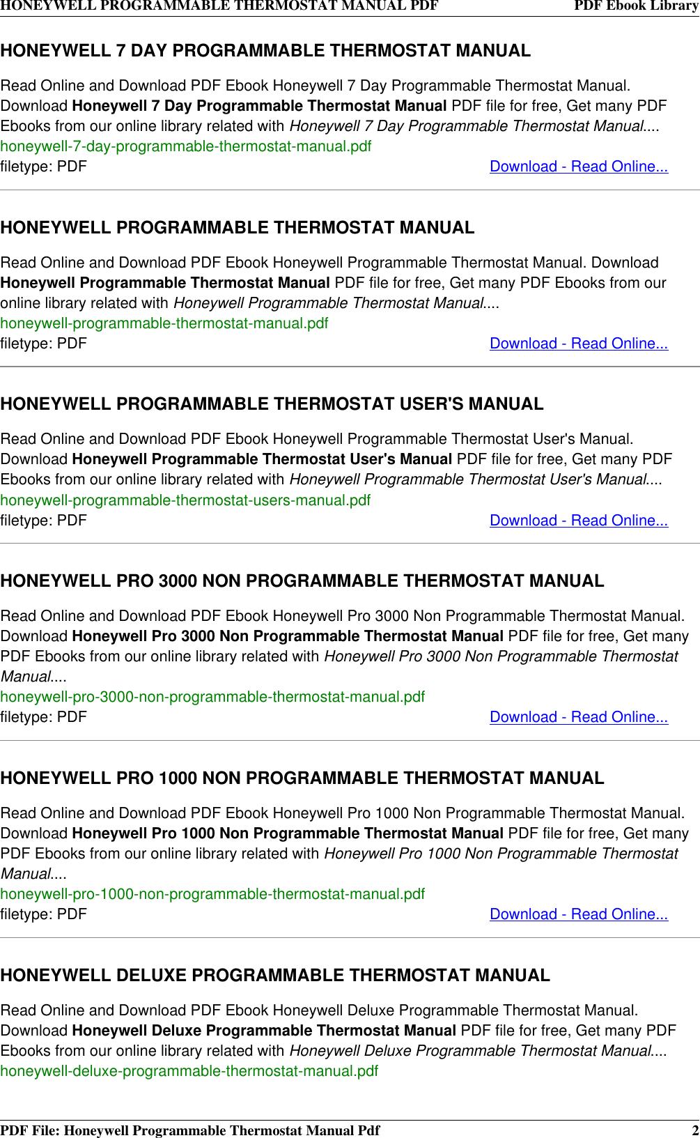 honeywell pro 1000 non programmable thermostat