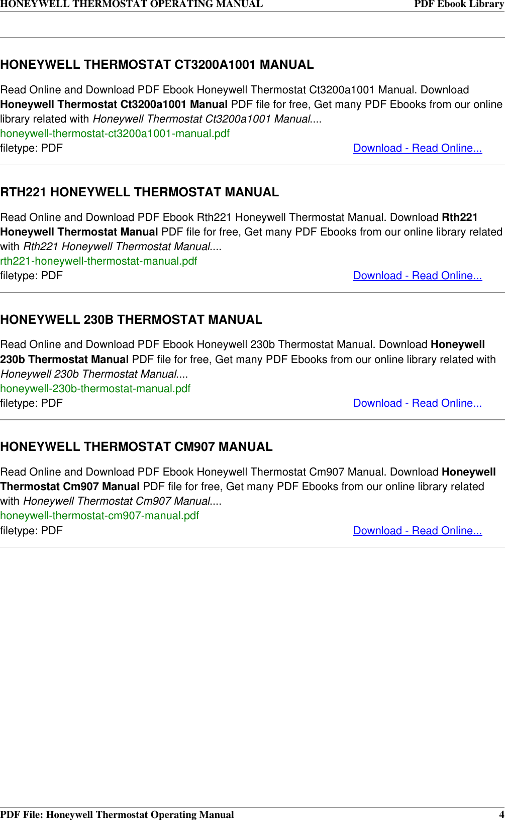 honeywell ultrastat guide